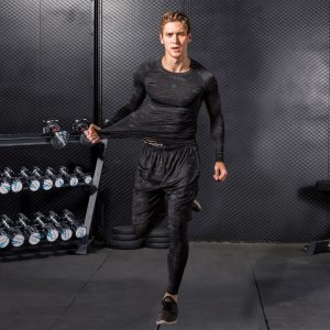 Compression Tracksuits Running Set Men's Sport Suits Quick Dry Running Sets Clothes Mens Sports Joggers Training GymFitnessDemix