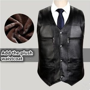 High quality Men's PU Leather vest Clothing Motorcycle Vest w/14 Patches Halley Punk Vest Sleeveless New winter dj  jacket men