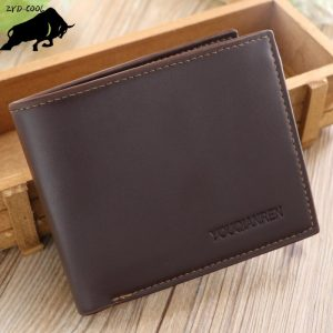 ZYD-COOL New Retro Man Wallets Male Purse Fashion Card Holders Small Zipper Wallet New Designed Multi Pockets Purse For Male