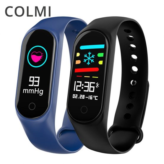 COLMI M3S Color Screen Fitness Tracker IP67 Waterproof Blood Pressure Heart Rate Monitor Smart Bracelet Band Standby 20 Days