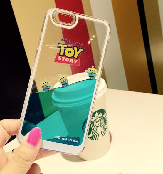 Cute Cartoon Hard Plastic Transparent Soft edge Blue Liquid Toy Story Case Cover For iPhone 7 6 6S 8 Plus for iPhone X XS Max XR