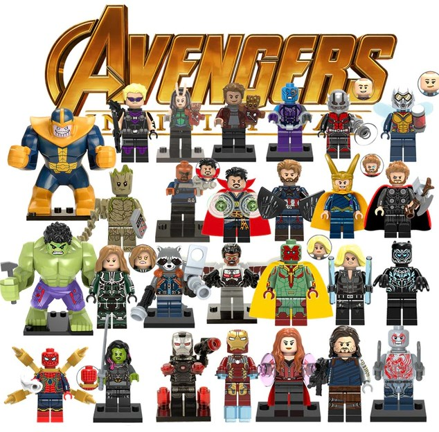 Model Building Blocks 1pcs Model Building Blocks Action Figures Starwars Superheroes Leather Face Classic Learning Dolls Dc Diy Toys For Children Gift