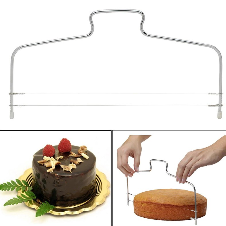Stainless Steel Wire Cake Cutter Slicer Spatula Silicone Mold Cake  Decorating Tools Kitchen Baking Pastry Carving DIY Reusable - VolgoPoint