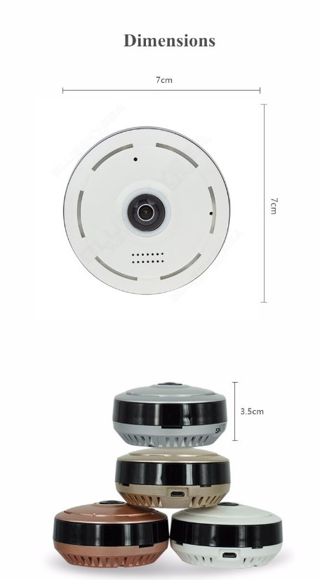 HD 360 Degree Panoramic Wide Angle MINI Cctv Camera Smart IPC Wireless  Fisheye IP Camera P2P 960P HD Home Security Wifi Camera - VolgoPoint