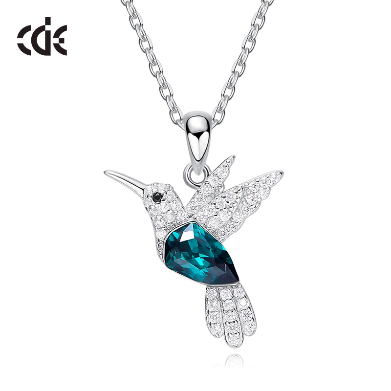 e8576f226e111 CDE 925 Sterling Silver Necklace For Women Embellished with crystals from  Swarovski Bird Pendant Necklace Animal Jewelry Collars - VolgoPoint