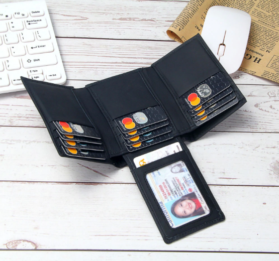 Pesters Mens Synthetic Leather Wallet Blocking Slim Front Pocket Money Pockets Credit//ID Cards Holder Purse Bifold Wallet