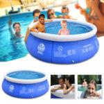 2.4×0.63m/2.4×0.76m/3.0×0.76m/3.6×0.76m-Blue-Above-Ground-Inflatable-Swimming-Pool-Family-Play-Bathtub-Water-Pool-Inflatable-Pool-For-Garden-Adults-Kids