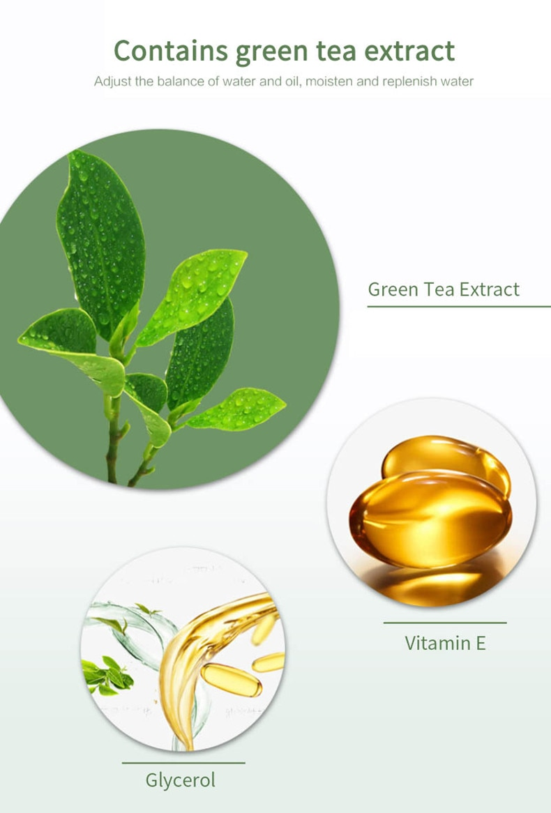 Green Tea Cleansing Mask Purifying Clay Stick Mask Oil Control Skin Cleansing Care Anti-Acne Eggplant Remove Blackhead Mud Mask