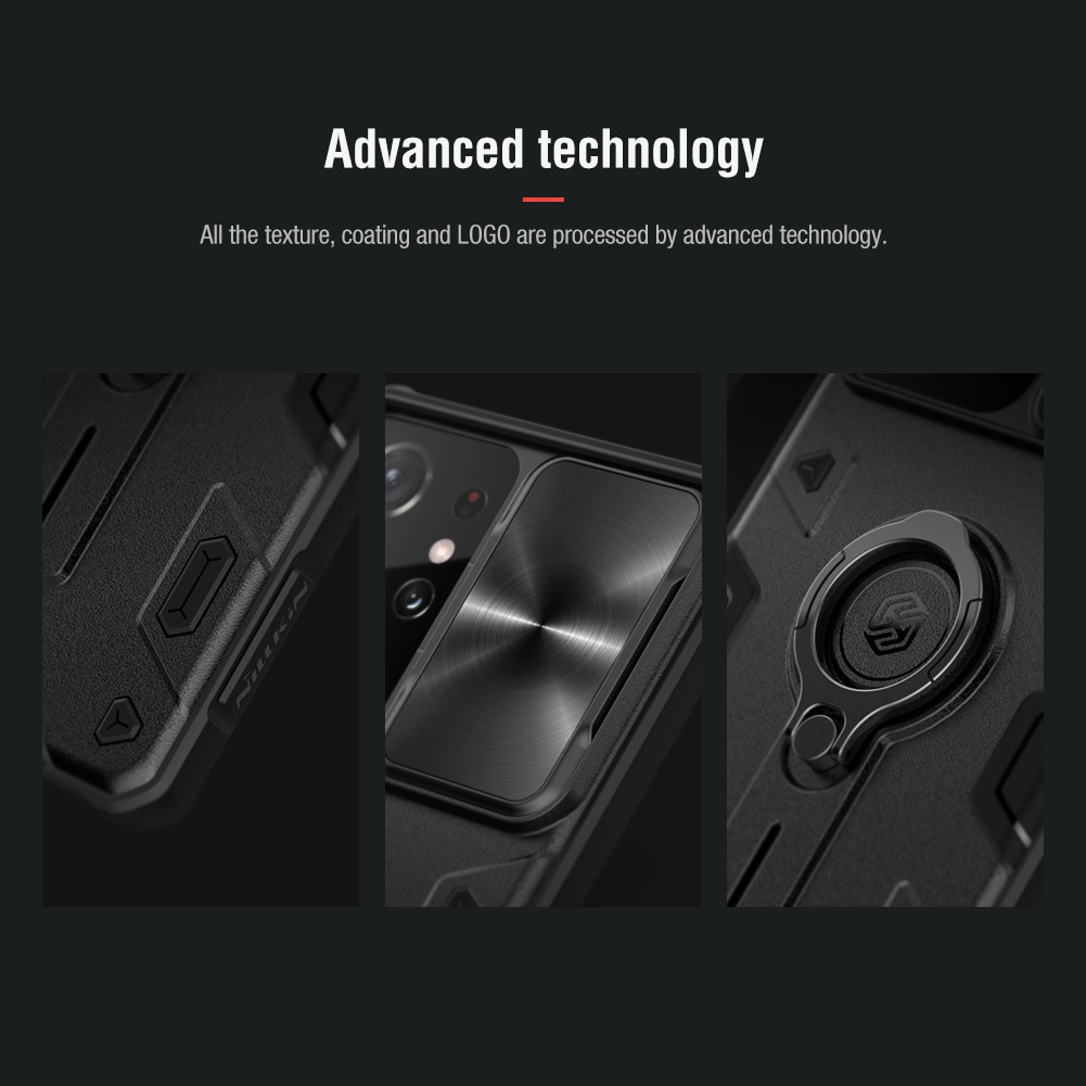 NILLKIN Slide Cover Case For Samsung Galaxy S21 Ultra Ring Stand Case for Galaxy S21 5G 2021 designer Case Shockproof for S21+