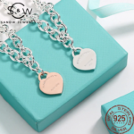 Heart Shaped Silver Necklaces