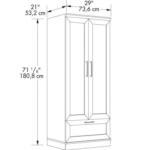 Cabinet Armoire with Garment Rod 4