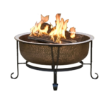 Fire Pit with Spark Guard Cover and Stand 1