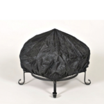 Fire Pit with Spark Guard Cover and Stand 4