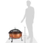 Fire Pit with Spark Guard Cover and Stand 5