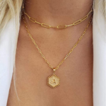 M MOOHAM Dainty Layered Initial Necklaces for Women-1