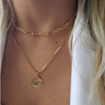 M MOOHAM Dainty Layered Initial Necklaces for Women-3