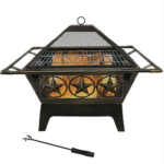 Outdoor Steel Wood Burning Fire Pit 1
