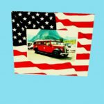 Patriotic Stars And Stripes Party Card Picture Frame With Easel- Holds A 4″ X 6″ Photo