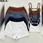 Solid Casual Two Piece Sets Women -58