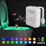 TOILETS WITH LED MOTION LIGHT