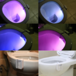 TOILETS WITH LED MOTION LIGHT 2