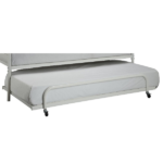 Trundle Bed Frame in White Metal 1