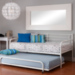 Trundle Bed Frame in White Metal 3