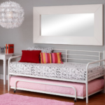 Trundle Bed Frame in White Metal 4