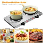 1800W Double Hot Plate Electric Countertop Burner-3