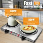 1800W Double Hot Plate Electric Countertop Burner-4