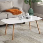 Coffee Table with Solid Wood Legs 1