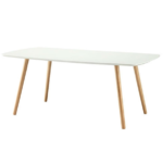 Coffee Table with Solid Wood Legs 2