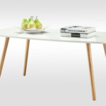 Coffee Table with Solid Wood Legs 3
