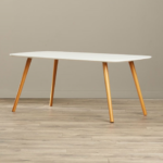 Coffee Table with Solid Wood Legs 4