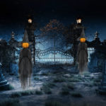Halloween Decor 1.7m Light-Up Witches with Stakes-3