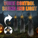 Halloween Decor 1.7m Light-Up Witches with Stakes-4