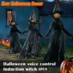 Halloween Decor 1.7m Light-Up Witches with Stakes