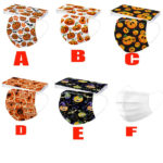 Halloween Printed Unisex Fashion 3-ply Face Mask-2