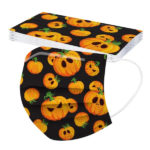 Halloween Printed Unisex Fashion 3-ply Face Mask-3