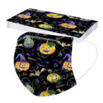 Halloween Printed Unisex Fashion 3-ply Face Mask-4