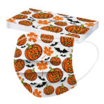 Halloween Printed Unisex Fashion 3-ply Face Mask-5
