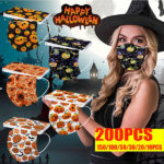 Halloween Printed Unisex Fashion 3-ply Face Mask