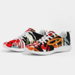 Multicolor Low Top Canvas Running Shoes 5