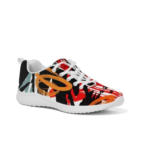 Multicolor Low Top Canvas Running Shoes 6