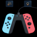 RED AND BLUE SWITCH GAME CONTROLLER 5