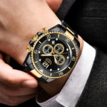 Stainless Steel LIGE Mens Watches 2
