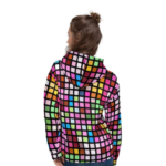 Womens Colorful Cube Style Pullover Hoodie 2